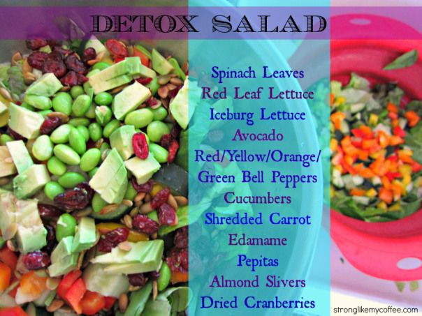 Detox Salad Mix (stronglikemycoffee.com) | Dorm Room | Pinterest