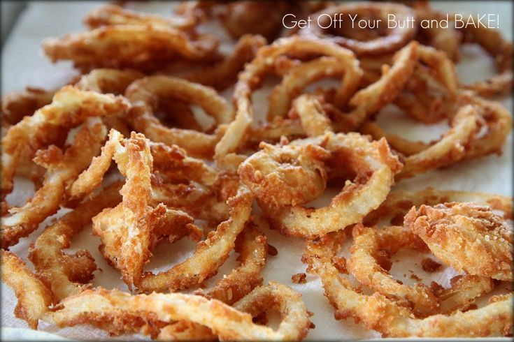 Crispy Onion Rings I was just telling the hubby last night that I ...