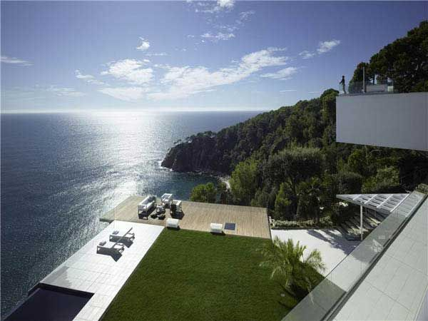 Magnificient view of the Mediterranean Sea from the Costa Brava property