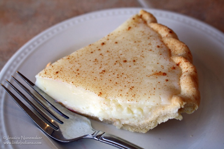 Sugar Cream Pie. A Hoosier classic. | Yummy | Pinterest
