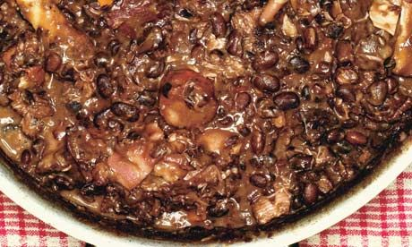Brazilian black beans braised with plenty of pig recipe A famous ...