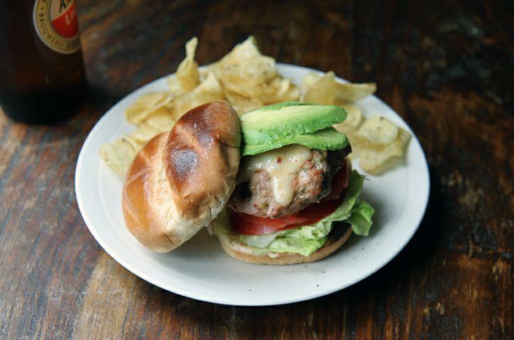 chipotle green chile turkey burger | Sandwiches | Pinterest
