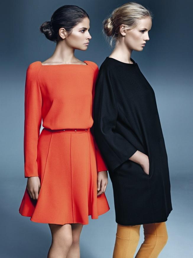 Vestido naranja con vuelo by Juanjo Oliva  Vestido negro globo by Juanjo Oliva   #Vestido #ElCorteIngles