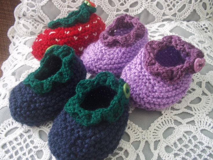 Pinterest Free Knitting Patterns For Baby Booties : Knitted Baby Booties - free pattern Stik til b?rn Pinterest
