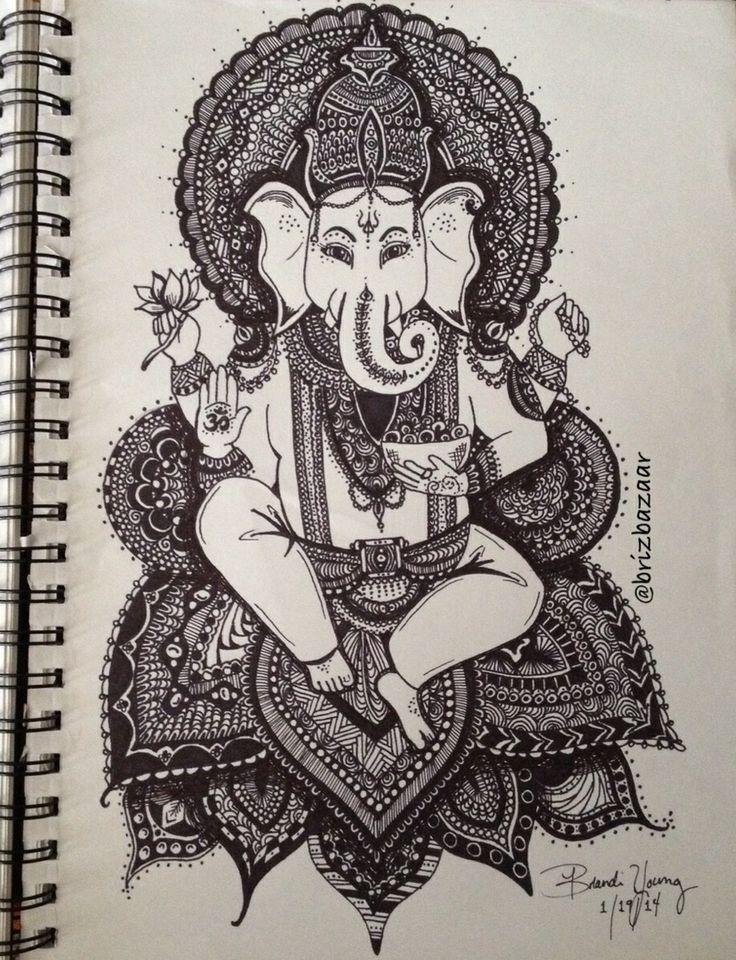 Instagram BrizBazaar #shareIG Zentangle drawing of Ganesh. God ...
