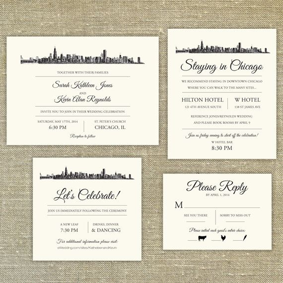 Chicago Wedding Invitations correctly perfect ideas for your invitation layout