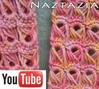 Broomstick lace crochet video from Naztazia