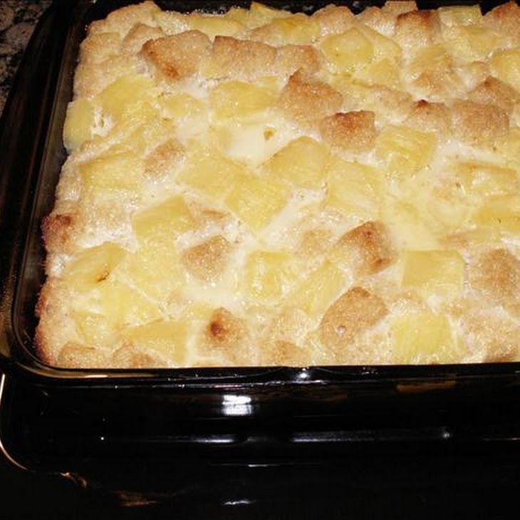 Yummy Low Cal-Low Fat Pineapple Bread Pudding Recipe