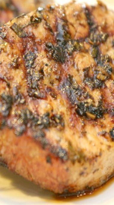 Grilled Pork Chops with Rosemary Garlic Rub | Recipe
