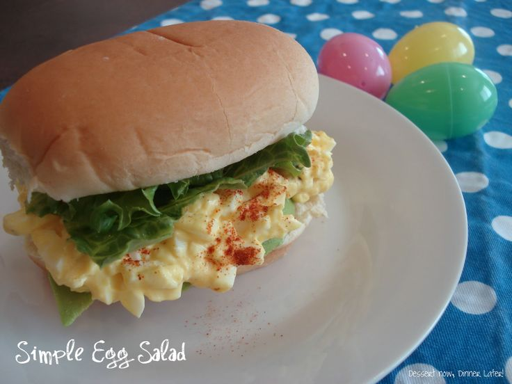 Simple Egg Salad ~ This is the best egg salad 5 stars