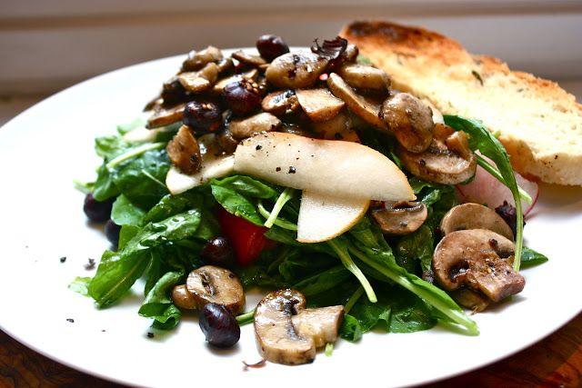 eclectic mom home warm mushroom salad warm mushroom salad with crispy ...
