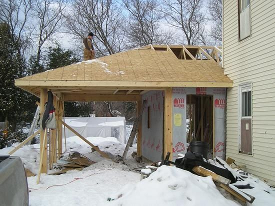 Carport addition garage ideas attached and for Carport additions