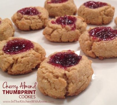 Cherry Ginger Thumbprint Cookies Recipe — Dishmaps