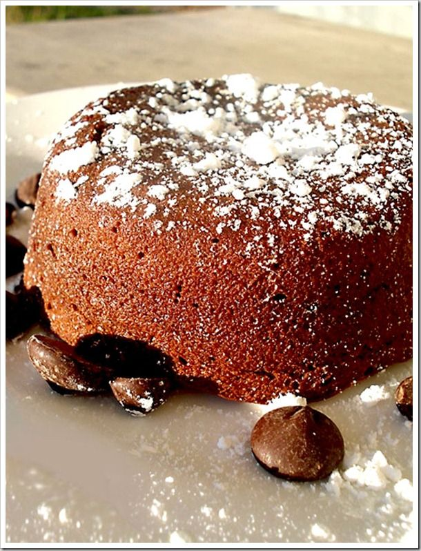 Milky Way Molten Lava Cakes | looks yummy | Pinterest