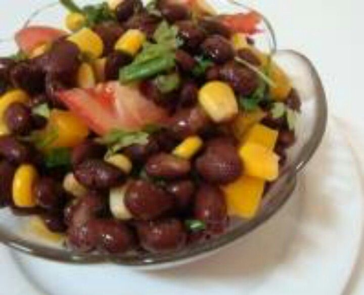 and vegan corn and bean salad recipe with black beans, avocados ...