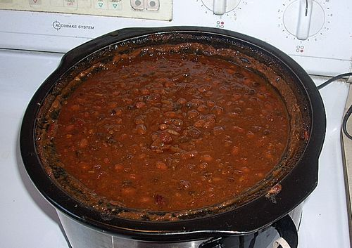 Slow Cooker/Crock-pot Three Bean Baked Beans for a crowd. Great for ...
