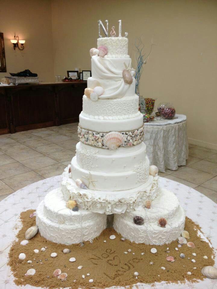 Beach Theme Wedding Cake By FSS Tx WEDDING CAKES Pinterest