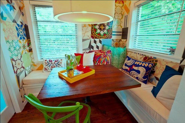 Kitchen booth dream home pinterest - Kitchen nook booth ...