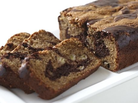 Banana-Chocolate Marble Bread recipe | Huffington Post (uses whole ...