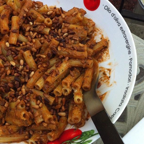 Rigatoni With Eggplant Puree Recipe — Dishmaps