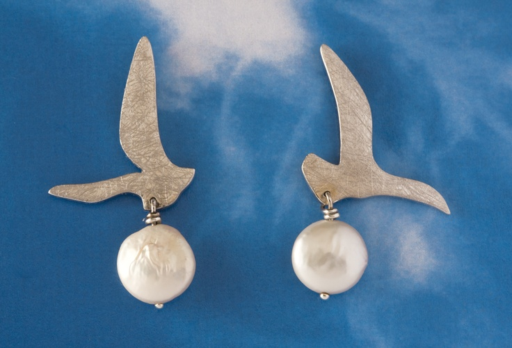 Gri    Earring  925 silver and pearl  www.ozlemtuna.com