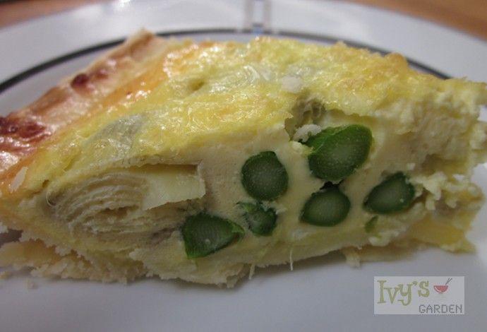 Perfect Pair! Gluten Free Asparagus and Artichoke Quiche