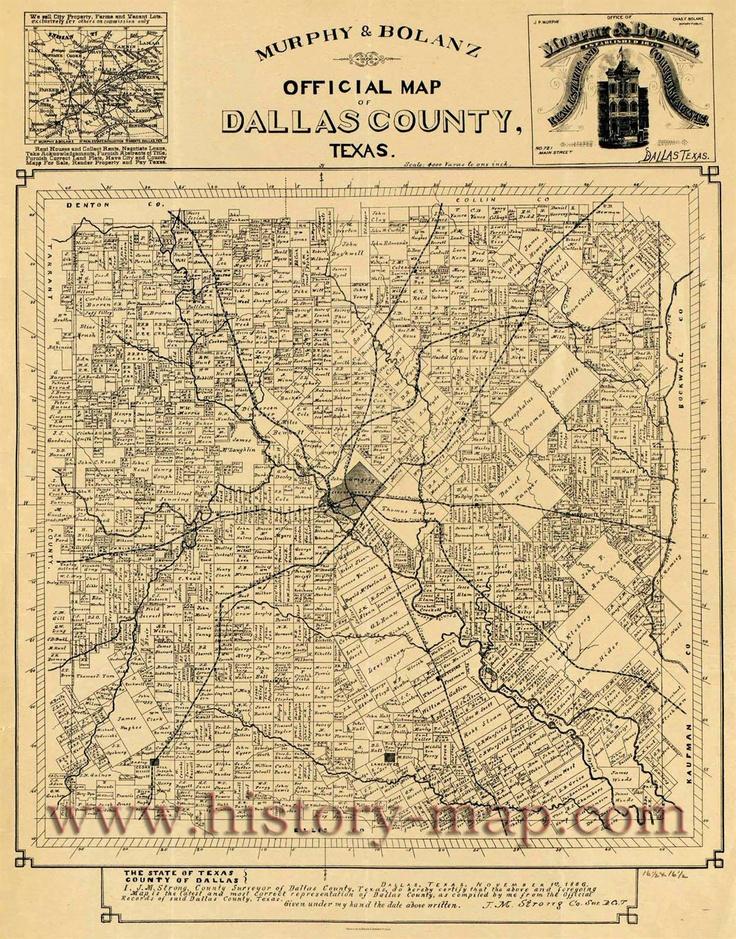 Dallas County Texas Map Published Nov 1 1886 Elaine