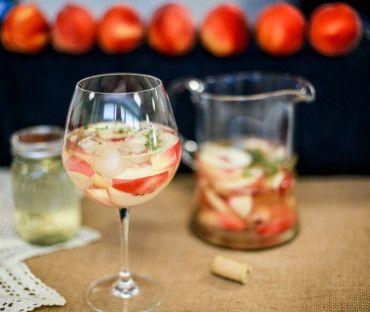 Summeripe White Peach & Thyme Sangria Use sweet Summeripe White ...