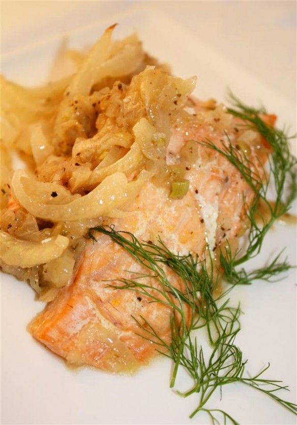 parchment salmon with fennel | Eat Me | Pinterest