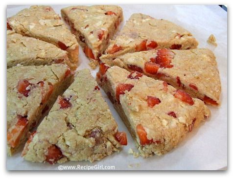 Whole Wheat Strawberry Scones | Sweet Makeovers | Pinterest