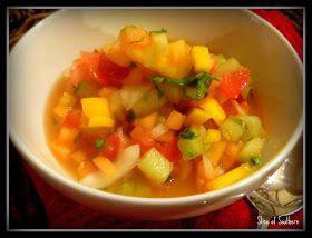 Slice of Southern: Summer Fruit Gazpacho | Yummy Stuff | Pinterest