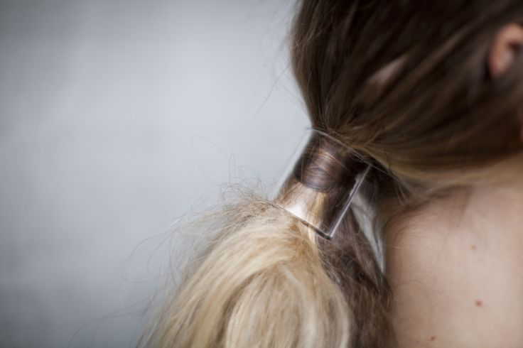 Clear hair ring