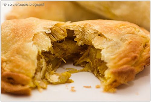 Malaysian Chicken Curry Puffs. It's a pastry, so there's plenty of fa...