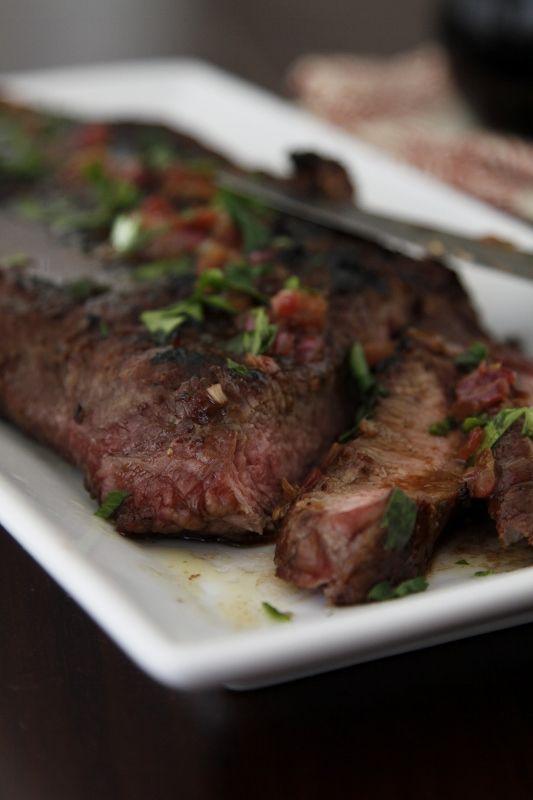 Steak with Shallot, Butter & Balsamic Sauce | Recipe