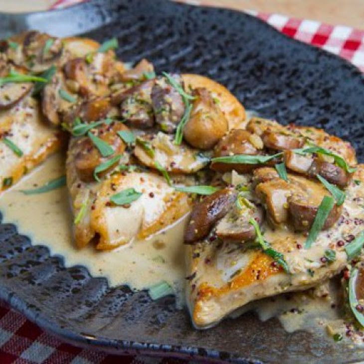 Pan Seared Chicken Breasts In A Mushroom, Tarragon And ...