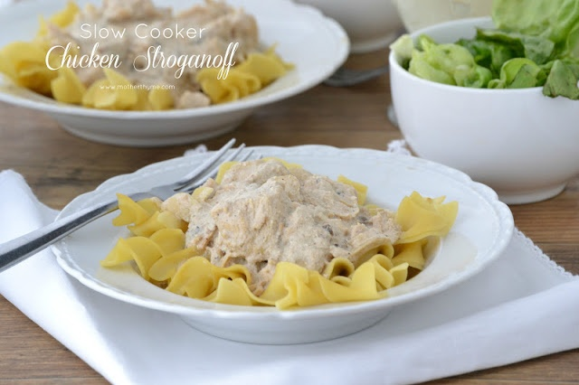 Slow Cooker Chicken Stroganoff - 18 oz can Progresso Creamy Portabella ...