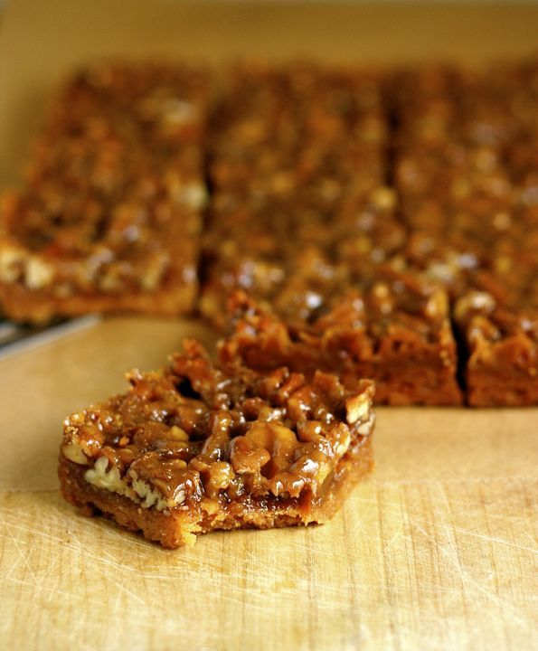 Honey-Nut Shortbread Bars | squares,bars,cakes | Pinterest