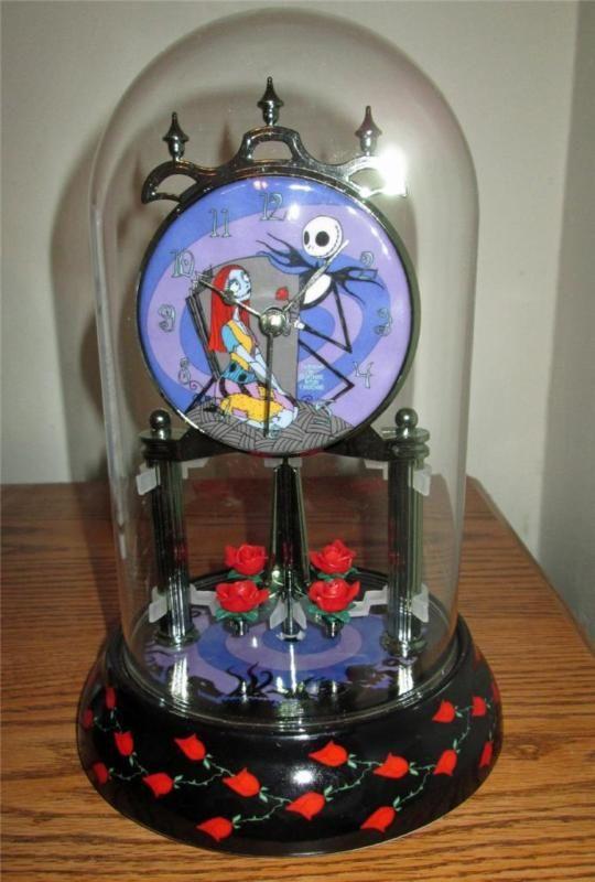 ... Nightmare Before Christmas porcelain pendulum anniversary mantle clock