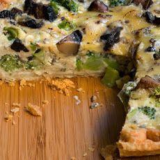 Broccoli, Mushroom, and Gouda Quiche Recipe Recipe