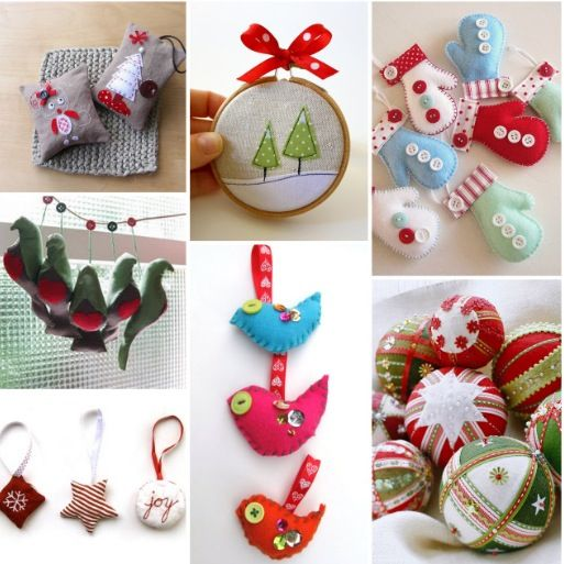 Christmas ornaments sew pinterest for Home made christmas decorations