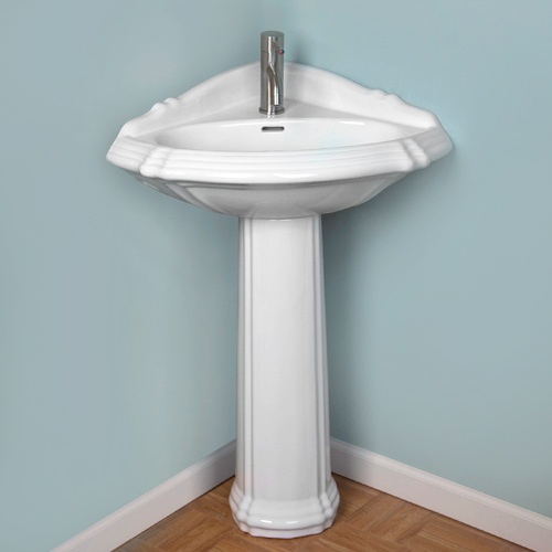 Small Corner Pedestal Sink : sink allows you to add a stylish sink to the smallest of bathrooms 190 ...
