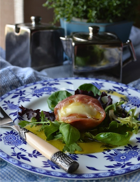 "Baked Buffalo Mozzarella in Prosciutto! From ""More Than Burnt Toast ..."