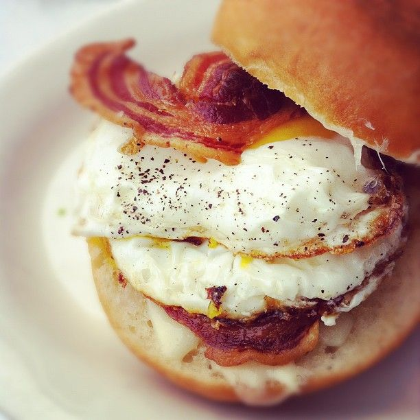 Fried egg sandwich. SO unhealthy, but SO delish! A little over hard ...