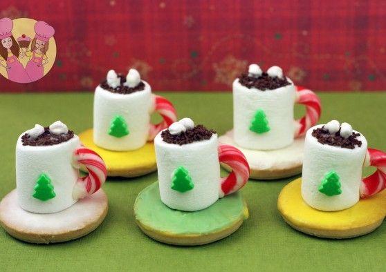 mini hot chocolate cookies | Fun Food Ideas | Pinterest