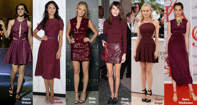 Frills and Thrills: The Burgundy Dress Trend