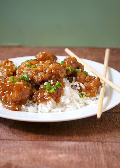 Lightened Up General Tso's Chicken | Food::feed me | Pinterest