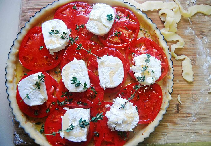 Tomato and Goat Cheese Tart   Cobblers and Tarts and more.   Pintere ...