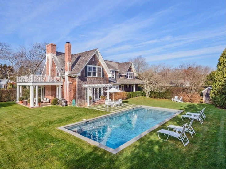 Hamptons style pool hamptons pinterest for Pool design hamptons