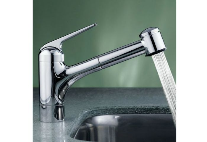 KWC e Handle Pull Out Spray Kitchen Faucet