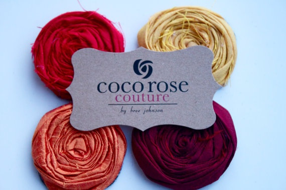 rosette supplies set of 6 for natalie by cocorosecouture on Etsy